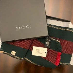 Gucci Green Red Scarf